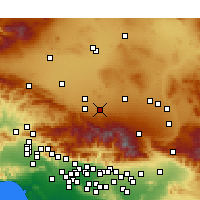 Nearby Forecast Locations - Lake Los Angeles - Carte