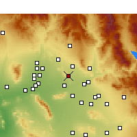 Nearby Forecast Locations - Paradise Valley - Carte