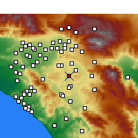Nearby Forecast Locations - Perris - Carte