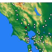 Nearby Forecast Locations - Petaluma - Carte