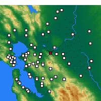 Nearby Forecast Locations - Pittsburg - Carte