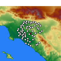 Nearby Forecast Locations - Placentia - Carte