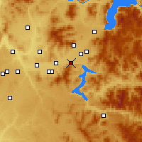 Nearby Forecast Locations - Post Falls - Carte