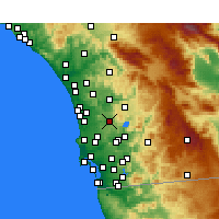 Nearby Forecast Locations - Poway - Carte