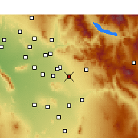 Nearby Forecast Locations - Queen Creek - Carte