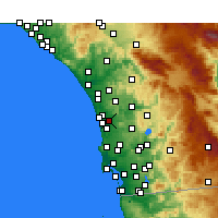 Nearby Forecast Locations - Rancho Santa Fe - Carte