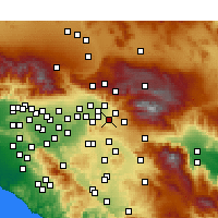 Nearby Forecast Locations - Redlands - Carte