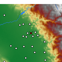 Nearby Forecast Locations - Reedley - Carte