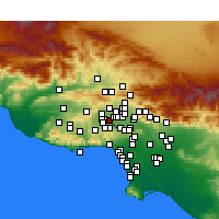 Nearby Forecast Locations - Reseda - Carte