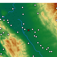 Nearby Forecast Locations - Ripon - Carte