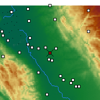 Nearby Forecast Locations - Riverbank - Carte