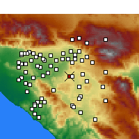 Nearby Forecast Locations - Riverside - Carte