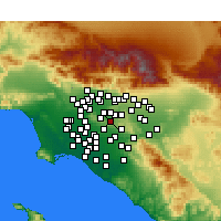 Nearby Forecast Locations - Rowland Heights - Carte