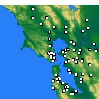 Nearby Forecast Locations - San Anselmo - Carte