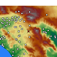 Nearby Forecast Locations - San Jacinto - Carte