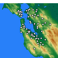 Nearby Forecast Locations - San Mateo - Carte