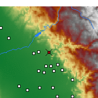 Nearby Forecast Locations - Sanger - Carte