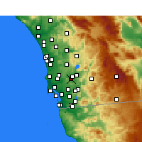 Nearby Forecast Locations - Santee - Carte