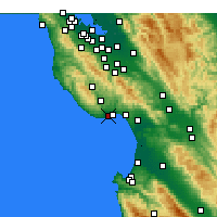 Nearby Forecast Locations - Scotts Valley - Carte