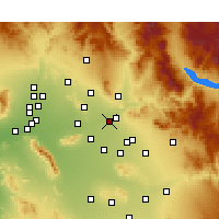 Nearby Forecast Locations - Scottsdale - Carte