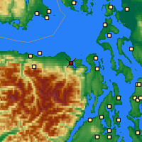 Nearby Forecast Locations - Sequim - Carte