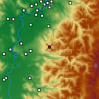 Nearby Forecast Locations - Silverton - Carte