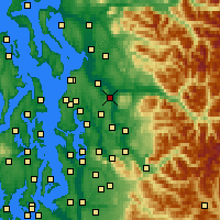 Nearby Forecast Locations - Snohomish - Carte