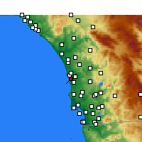Nearby Forecast Locations - Solana Beach - Carte