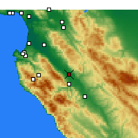 Nearby Forecast Locations - Soledad - Carte