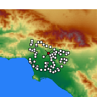 Nearby Forecast Locations - South Pasadena - Carte