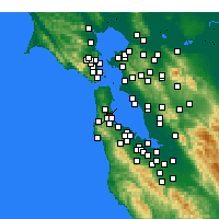 Nearby Forecast Locations - South San Francisco - Carte