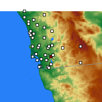 Nearby Forecast Locations - Spring Valley - Carte
