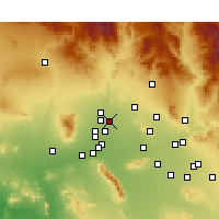 Nearby Forecast Locations - Sun City - Carte