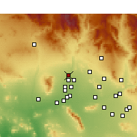 Nearby Forecast Locations - Sun City West - Carte