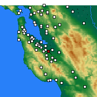 Nearby Forecast Locations - Sunnyvale - Carte