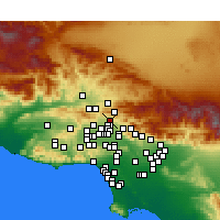 Nearby Forecast Locations - Sylmar - Carte