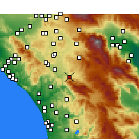 Nearby Forecast Locations - Temecula - Carte