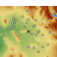 Nearby Forecast Locations - Tempe - Carte