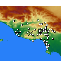 Nearby Forecast Locations - Thousand Oaks - Carte
