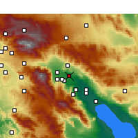 Nearby Forecast Locations - Thousand Palms - Carte