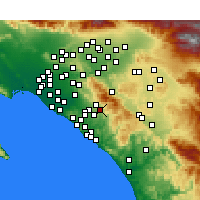 Nearby Forecast Locations - Trabuco Canyon - Carte