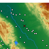 Nearby Forecast Locations - Turlock - Carte