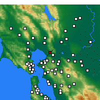 Nearby Forecast Locations - Vallejo - Carte
