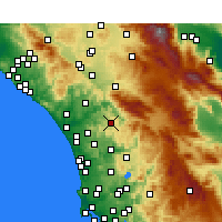 Nearby Forecast Locations - Valley Center - Carte