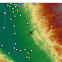 Nearby Forecast Locations - Valley Springs - Carte