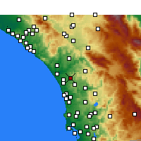Nearby Forecast Locations - Vista - Carte