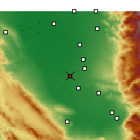 Nearby Forecast Locations - Wasco - Carte
