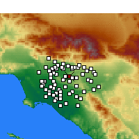 Nearby Forecast Locations - West Covina - Carte