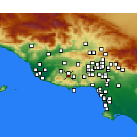 Nearby Forecast Locations - Westlake Village - Carte