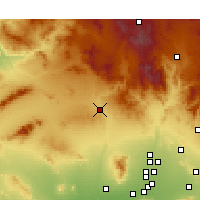 Nearby Forecast Locations - Wickenburg - Carte